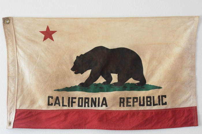 California State Flag - MIXING ART STYLES IN YOUR HOME by popular home interior design blogger E. INTERIORS